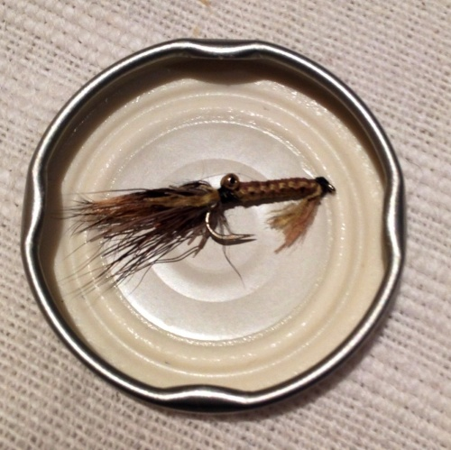 My test fly passed with flying colours this morning! One 2lb, followed by two 3lb - all in pristine condition and fighting fit. Even still it's make-up hasn't smudged a bit!