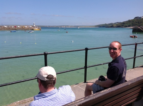 Taking in the excitement of future plans at St.Ives... What a day!