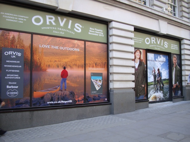 Trading since 1856 and still completely in touch - drawing on a rich heritage, Orvis are equally at home on the cutting edge of new technology and forward thinking... Straight down the hill from Piccadilly Circus, on your right hand side.