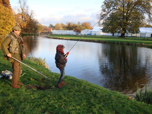 Playing a 2.5lb trout is an adrenalin rush - this young man was having the time of his life!
